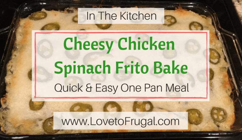 Cheesy Chicken Spinach Frito Bake