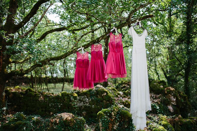 Love & Tralala Mariage champêtre en Dordogne - robe de mariée et robes de demoiselles d'honneur