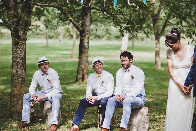 Love & Tralala Mariage champêtre en Dordogne -les témoins du marié