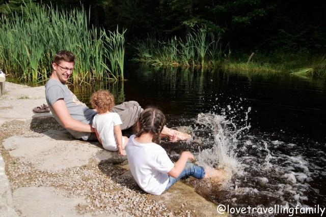 Love travelling family. Z dziećmi bliżej natury. Dzieci w lesie