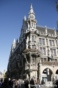 Neues Rathaus New Town Hall, Munich, Germany, Love travelling family