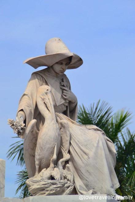 Necrópolis Colon, statue