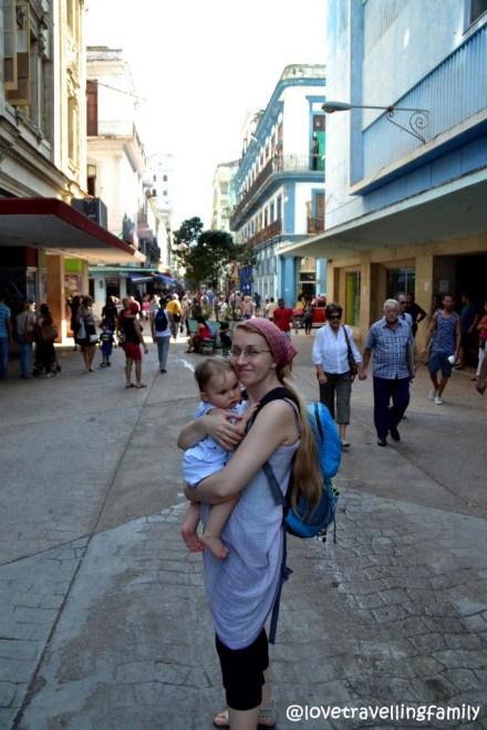 Love travelling family, San Rafael, Havana, Cuba