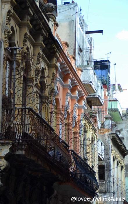 Old townhouses, Havana