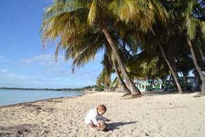 , Cuba, Zosia with a coconut