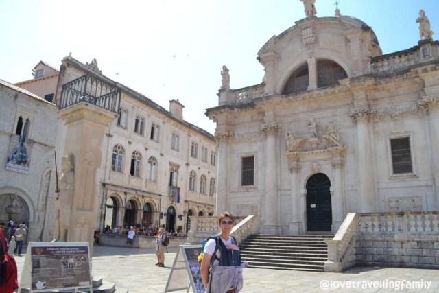 Love travelling family @ Luža Square, Dubrovnik