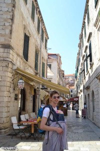 Love travelling family in Old Town, Dubrovnik