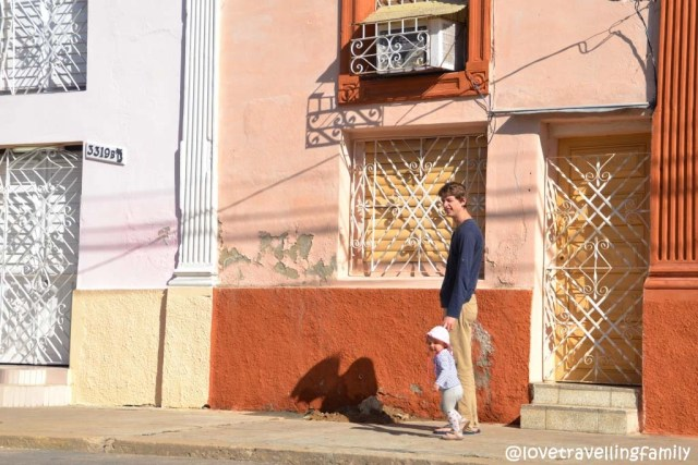 Morning walk, Love travelling family in Cienfuegos, Cuba