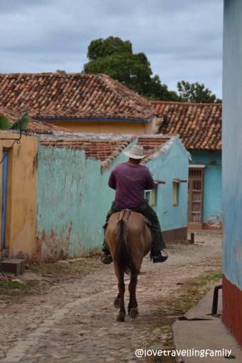 Cowboy in Barrio Los Tres Cruces, Trinidad, Cuba