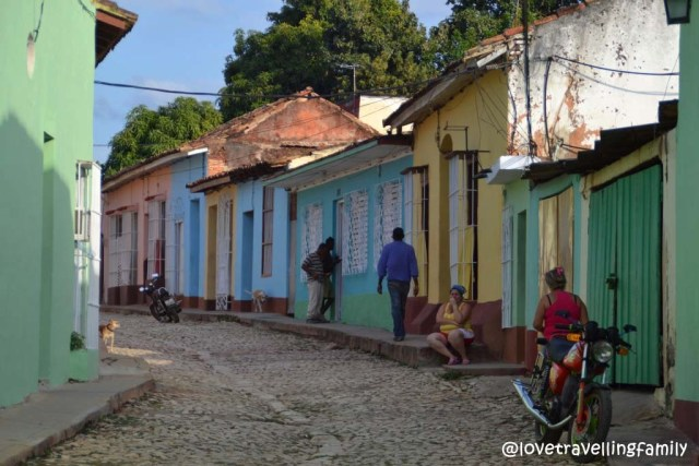 Old town streets in Trinidad, Cuba