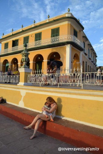 Sunset, Love travelling family in Trinidad, Cuba