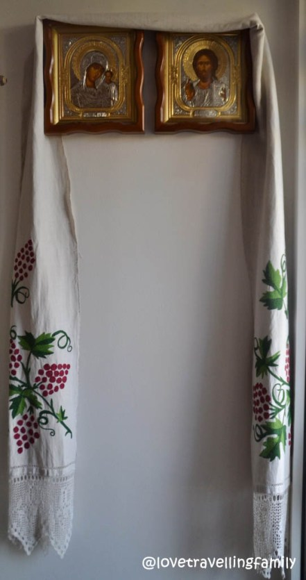 Folk decorative towel from Wólka