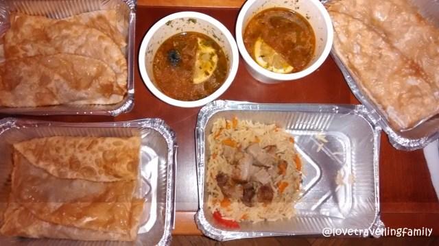 Eating Ukrainian solyanka soup, plov, and chebureki, Kiev