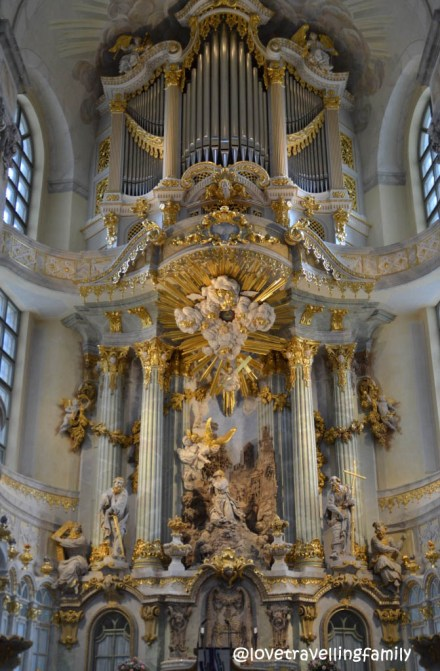 Altar in Frauenkirche, Old Town Dresden, Germany