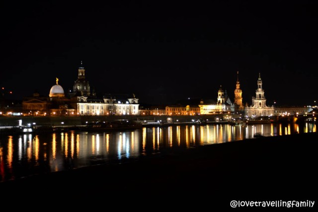 Dresden panorama by night