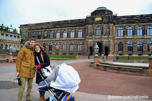 Lovetravelling family at Zwinger, Dresden