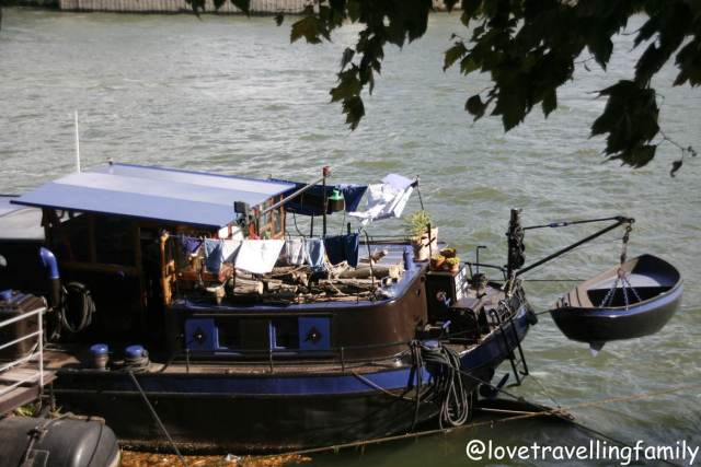 A boat on the Seine River in Paris