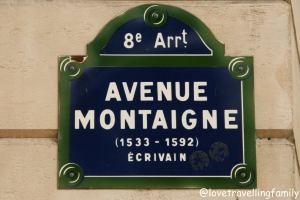 Avenue Montaigne, Paris, France