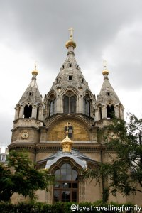 Russian Orthodox Alexander Nevsky Catherdal in Paris, France