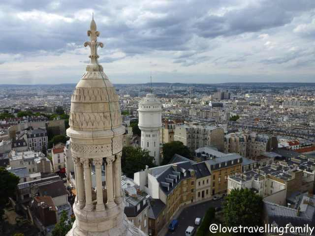 The Basilica of the Sacred Heart of Paris, Sacré-Cœur, view from the top