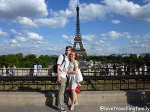 The Eiffel Tower, Love travelling family in Paris