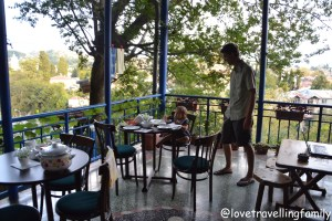 Love travelling family, breakfast at Sun Guest House, Kutaisi, Georgia