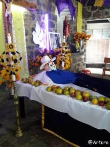 Dia de los muertos in Ocotepec - church
