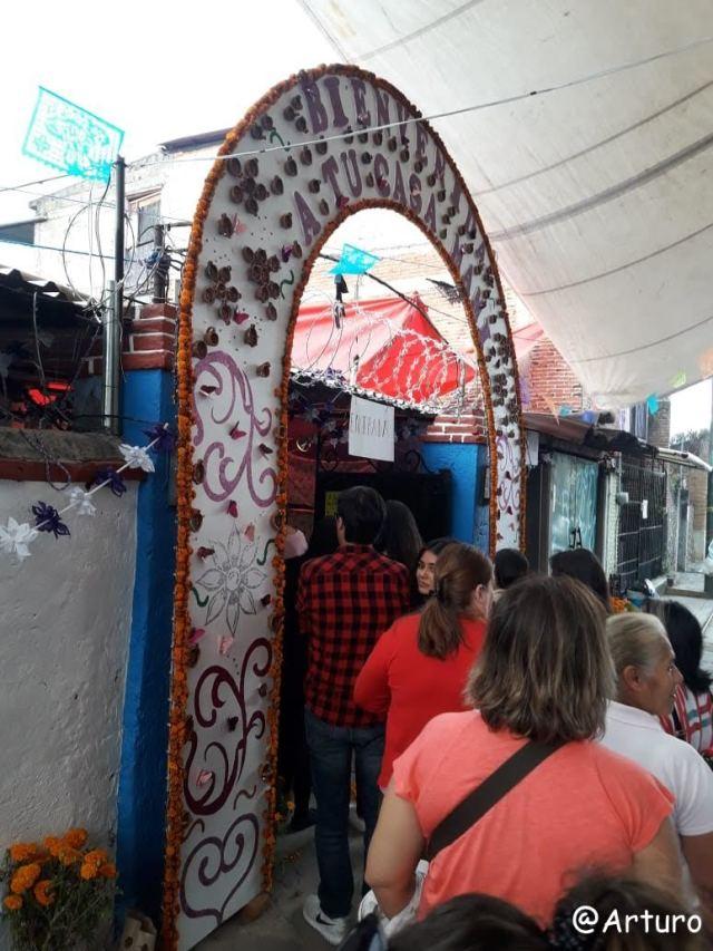 Dia de los muertos in Ocotepec - entrance