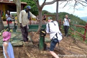 Squeezing sugar cane Valle de los Ingenios Love travelling family