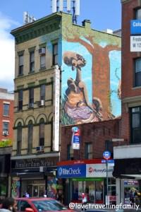 Street art, W 125th Street, Harlem New York, Love travelling family