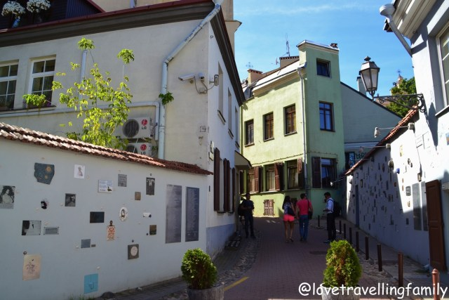 Literatų Street, Vilnius, Lithuania with kids Love travelling family