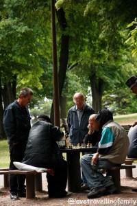 Playing chess Kalemegdan, Serbia, Belgrade with kids, Love travelling family
