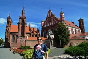 St. Anne's Church and Mickiewicy statue, Vilnius, Lithuania with kids Love travelling family
