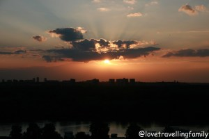 Sunset Kalemegdan, Serbia, Belgrade with kids, Love travelling family