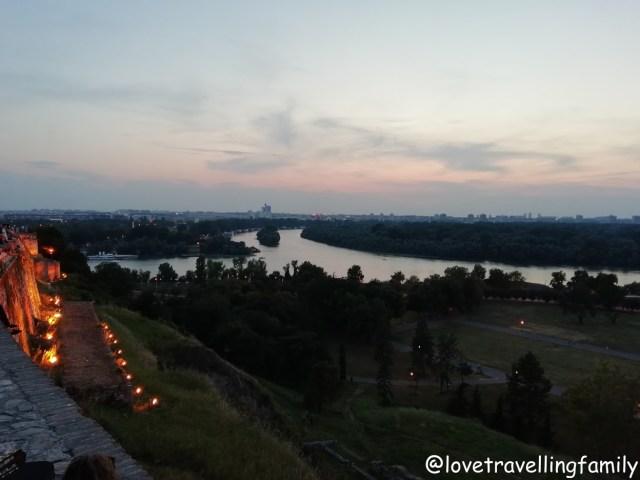 Sunset Kalemegdan, Serbia, Belgrade with kids, Love travelling family