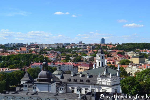 View of Vilnius from Gediminas Castle Tower, Lithuania with kids Love travelling family