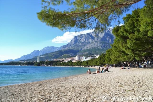 Beach Makarska, Makarska Riviera. Croatia. Family travel guide