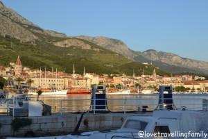 Harbor and city center Makarska, Croatia