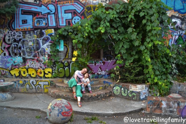 Love travelling family Metelkova Art Center, Slovenia. Ljubljana with kids