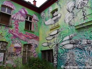 Metelkova Art Center, Slovenia. Ljubljana with kids
