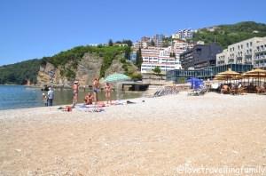 Plaža Ričardova Glava, Budva, Montenegro with kids