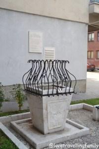 Sarajevo memorial of kids killed during siege