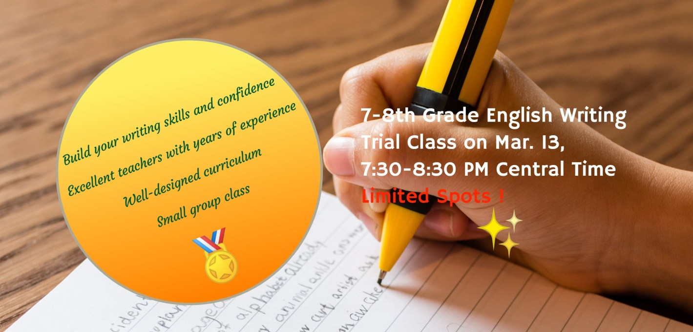 English writing trial class 2