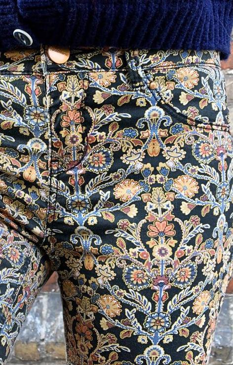 spodnie stradivarius wzór paisley