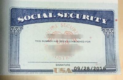 K1 visa social security after marriage