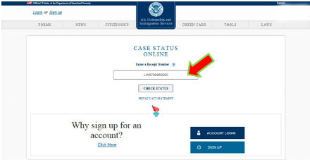 Check USCIS Case Status Online through USCIS Case Status for
