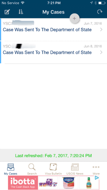 looking at my uscis case tracker case status page