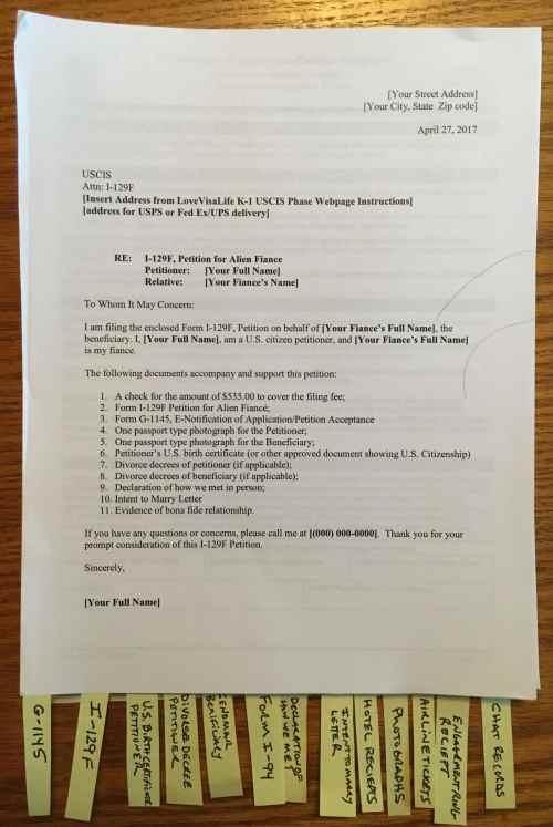 K 1 Visa Application Assembling Tips I 129F Petition For Alien Fiance LoveVisaLife