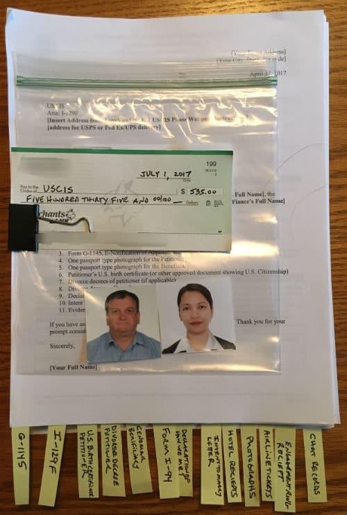 K 1 visa application assembling tips i 129f petition for alien i 129f petition for alien fiance k 1 visa application assembling altavistaventures Images