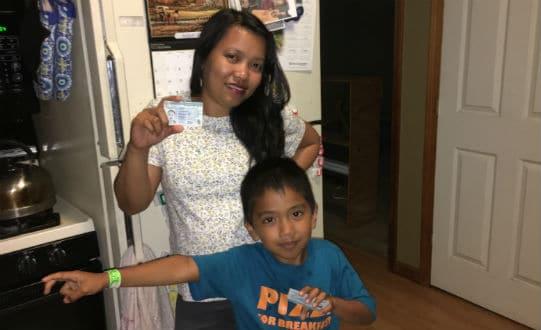 Track green card status